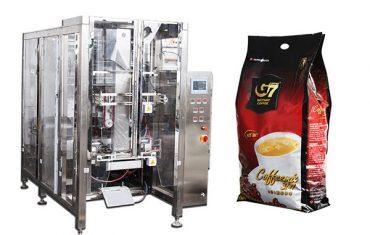स्वयंचलित क्वाड सील बॅग पॅकेजिंग मशीन व्हुल्मेट्रिक कप भरण्याचे यंत्र