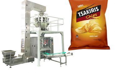 72 ग्रॅम बटाट्याचे चिप्स स्नॅक पॅकिंग मशीन