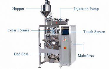 द्रव लंबवत फॉर्म पिस्टन फीलरसह सील मशीन भरुन टाका